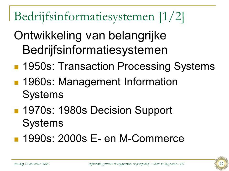 Bedrijfsinformatiesystemen [1/2]